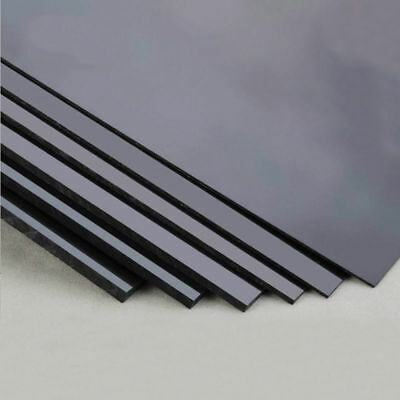 Black ABS Plastic Sheet Board DIY Model Craft 200x250mm 1/1.5/2/3/4/5mm Thick