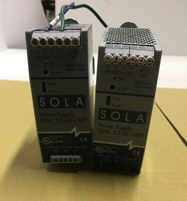 2X Sola SDN-2.5-24-100P Power Supply -USED