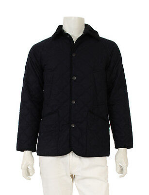 Barbour BEDALE QUILT WOOL FLANNEL quilted jacket Navy