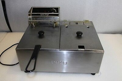 Birko Twin 5L Deep Fryer 1001002 - 2x5L pans - Single Pan in Use
