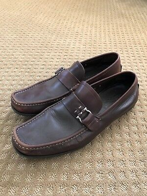 Ferragamo Brown Leather Loafer size 12 100% Authentic NR