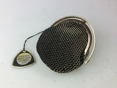 Vintage Little Coin Purse - Mesh Type Fabric Made In Japan - Possibly Not Used