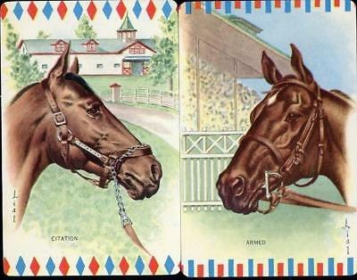 Beautiful Vintage Horse Swap Cards Pair In Brand New Condition