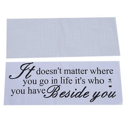 Wall Quote Removable Sticker Decal Mural It Doesn't Matter Where You G B5R6