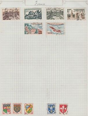 FRANCE Collection Golf Airmail Emblems  etc Old Pages, As Per Scan #