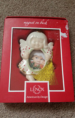 "Lenox Angel Frame Ornament 4"" Christmas Photo Holder"