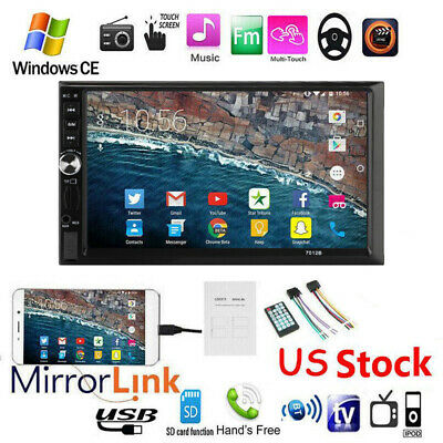 """7""""Double DIN Car Stereo Radio MP5 Player Touch Screen Bluetooth Head Unit+Camera"""