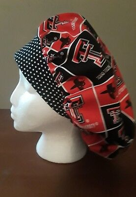 Texas Tech Women's Bouffant Surgical Scrub Hat/Cap Handmade