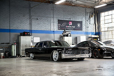 1965 Lincoln Continental silver CUSTOM 1965 Lincoln Continental  swap    bagged    bentley interior    A+ PAINT