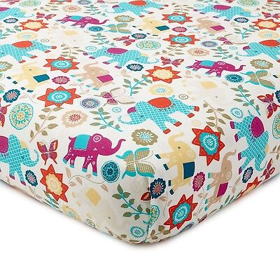 Levtex Baby Zahara Elephant Print Velour Changing Pad Cover   New!!!!