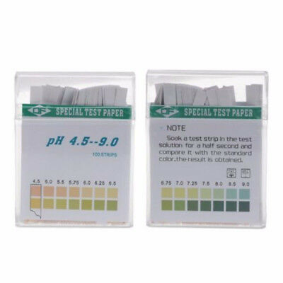 100X PH Indicator Test Strips 4.5-9 Paper Litmus Tester Laboratory Urine Saliva