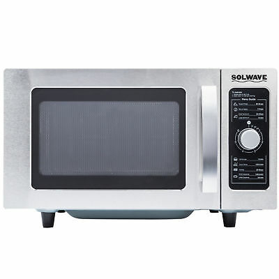 Solwave Stainless Steel Commercial Restaurant Microwave with Dial Control NEW
