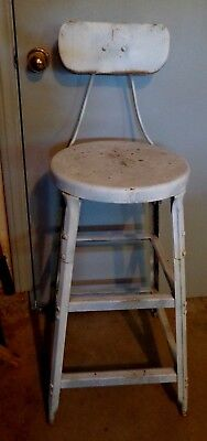 Vintage Industrial Metal Chair Stool 40 inches tall Local Pickup LA to SLO Area