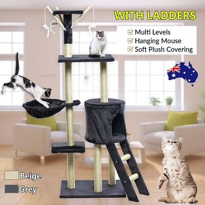 AU Cat Kitten Scratching Post Tree Scratcher Pole Furniture Gym House Giant Toy
