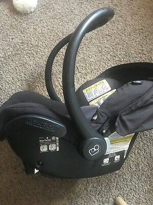 MaxiCosi  mico Nxt Rear Facing Infant Car Seat w Canopy Total Black