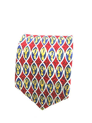 Cocktail Collection Mens 100% Silk Made in USA Multicolor Tie Stonehenge Ltd
