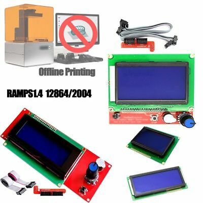 12864/2004 RAMPS Graphic Smart Controller LCD Module Reprap Extended Parts