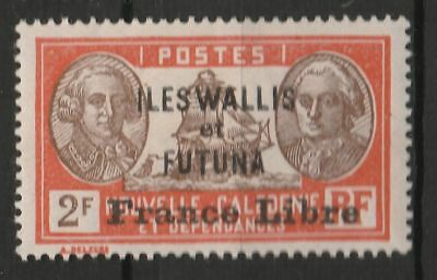 FRANCE Wallis & Futuna 1941 2fr FRANCE LIBRE OVPT MINT HINGED  #
