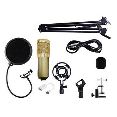 BM800 Condenser Microphone Kit Studio Suspension Boom Scissor Arm Sound Car