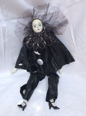 Vintage Pierrot Collection Hand Crafted Porcelain Dolls