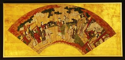 "CHINESE PAINTING: Antique Senmenzu:""Imperial Court Scene"", Ming Dynasty, 1600's"