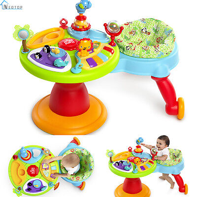 3 In 1 Around We Go Activity Center Toys Baby Walker Playtime Learning Toddler