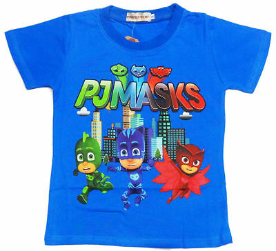 PJ Masks T Shirt Childrens Top Cartoon Character Blue Kids size 3, 4 and 6