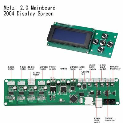 New 3D Printer Smart Motherboard Controller Board Melzi2.0 Mega1284p Mainboard