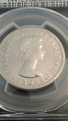 1959 AUSTRALIAN PROOF FLORIN GRADED pcgs pr64 stunning coin