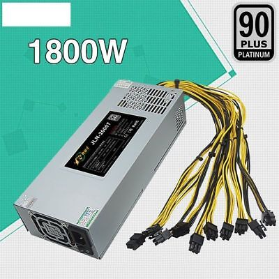 PSU APW3 Mining 1800W Power Supply for Antminer BTC Miner S7 S9 L3 A6 A7 APW3++