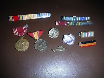 Vintage LOT OF MILITARY  RIBBONS MEDALS
