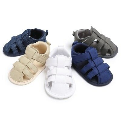 Baby Boy Toddler Soft Soles Pram First Walking Shoes Anti- Slip Sandals Shoes AU