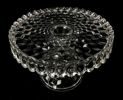 Fostoria American Glass Cake Stand Lot 1102