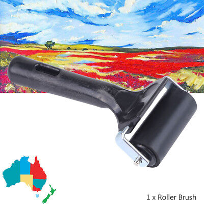 6CM Heavy Duty Hard Rubber Roller Printing Inks Block Brayer Art Craft Tool AU
