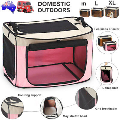 Portable Foldable Pet Soft Dog Cat Carrier Crate Travel Cage Kennel Carry M/L/XL