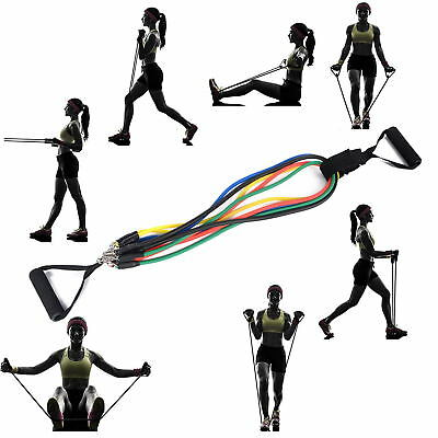 11 Pcs Resistance Bands Training Exercise Yoga Tubes Pull Rope Elastic Bands