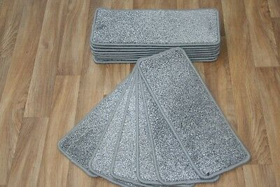 14 Carpet Stair case Treads Pearl Grey 316 Stain-Free Large Carpet Stair Pads