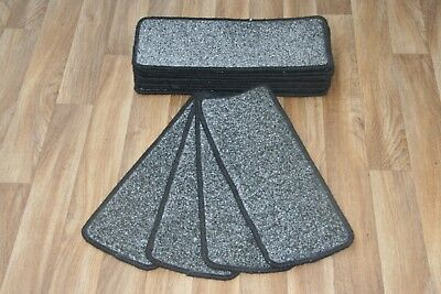 14 Open Plan Carpet Stair Treads Quality Trurus 286 Pads! 14 Large Pads!