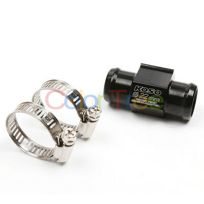 22MM Universal Motorcycle Thermometer Guage Meter Water Temp with Sensor Adapter