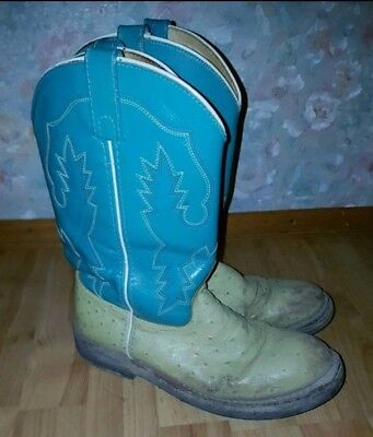 Western Boots ☆ Stiefel ☆ Smoky Mountain Boots ☆ Lime/Türkis ☆ Gr. 38/39