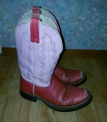 ☆ Western Boots ☆ Stiefel ☆ Old West ☆ Rosa/Pink Croco ☆ Gr. 39/40 ☆