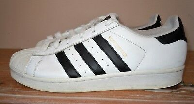 Mens Womens Adidas Superstar White Black Stripes Sneakers Shoes Leather 6.5  39.5 d75a1691f8