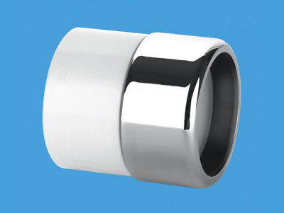 McAlpine Chrome Waste Pipe 32mm 35mm to Plastic Adaptor Coupling