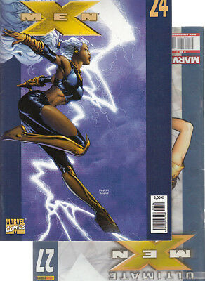 ULTIMATE  X-MEN:  Nºs   24. 27   ( LOTE 2 NUMEROS)  EDITORIAL  PANINI.