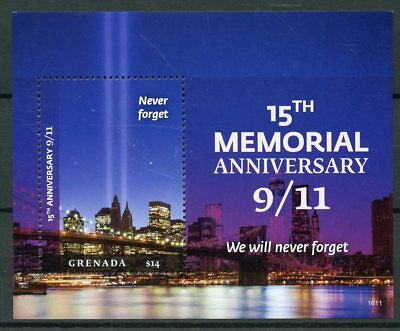 Grenada 2016 MNH 11th September 15th Memorial 1v SS New York Architecture Stamps