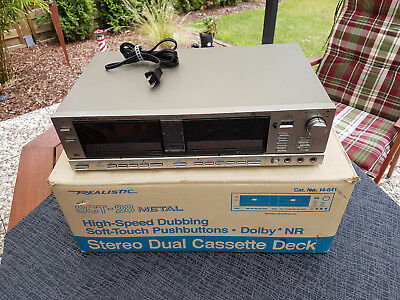 Realistic SCT-28 Metal Stereo Dual Cassette Deck 14-641 in OVP
