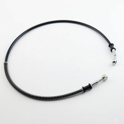 30-170cm Motorcycle AVT Flexible Brake Oil Hose 10mm End Pipe Black Line Tube