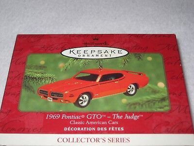 1969 Pontiac Gto - The Judge Hallmark Keepsake #10 Classic American Cars 2000