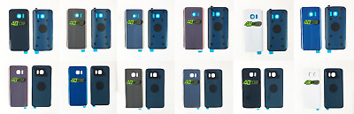 Replacement NEW Samsung Galaxy S7 & S7 Edge Rear Back Battery Cover + Adhesive