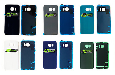 Replacement Samsung Galaxy S6 & S6 Edge Rear Glass Back Battery Cover + Adhesive
